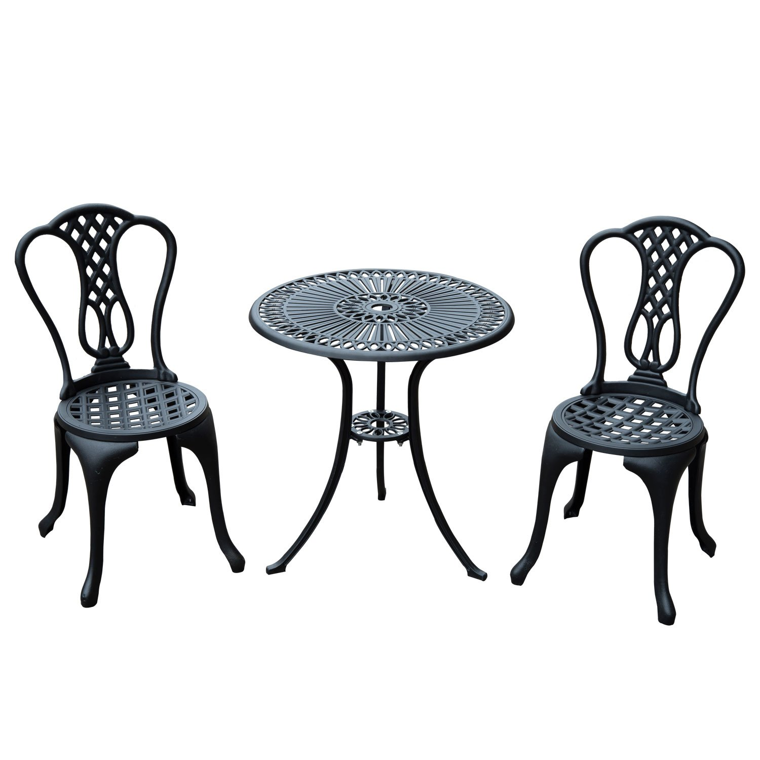 Salon de jardin mobilier de jardin bistrot 2 chaises + 1 table en ...