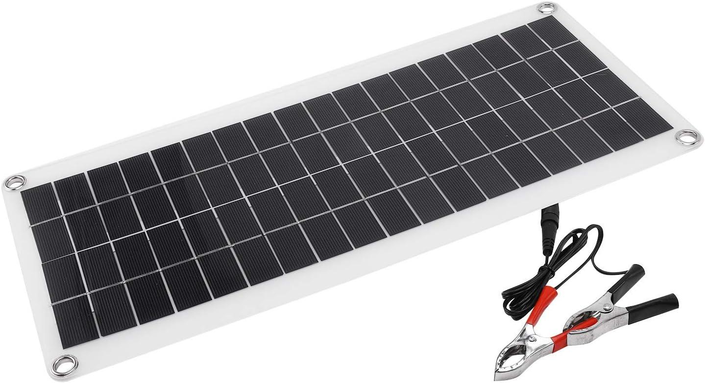 CUHAWUDBA Solar Panel 25w 12v Double Usb Portable Power Bank Board External Battery Charging Solar Cell Board Clips Car Charger