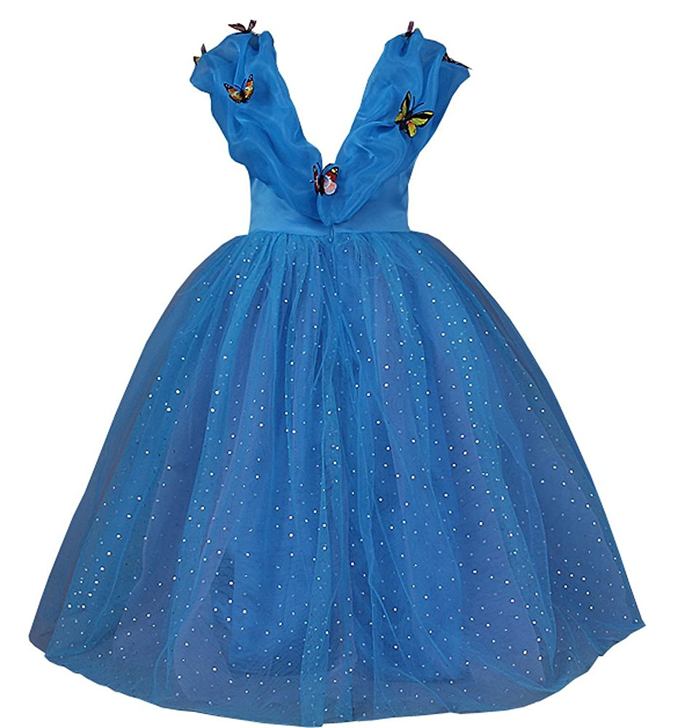 JerrisApparel New Cinderella Dress Princess Costume Butterfly Girl ...