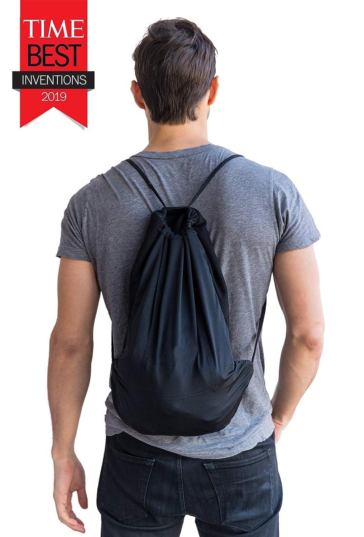 As Seen on Shark Tank Unisex Full-Zip Hero Hoodie Quikflip 2-in-1 Reversible Backpack Hoodie