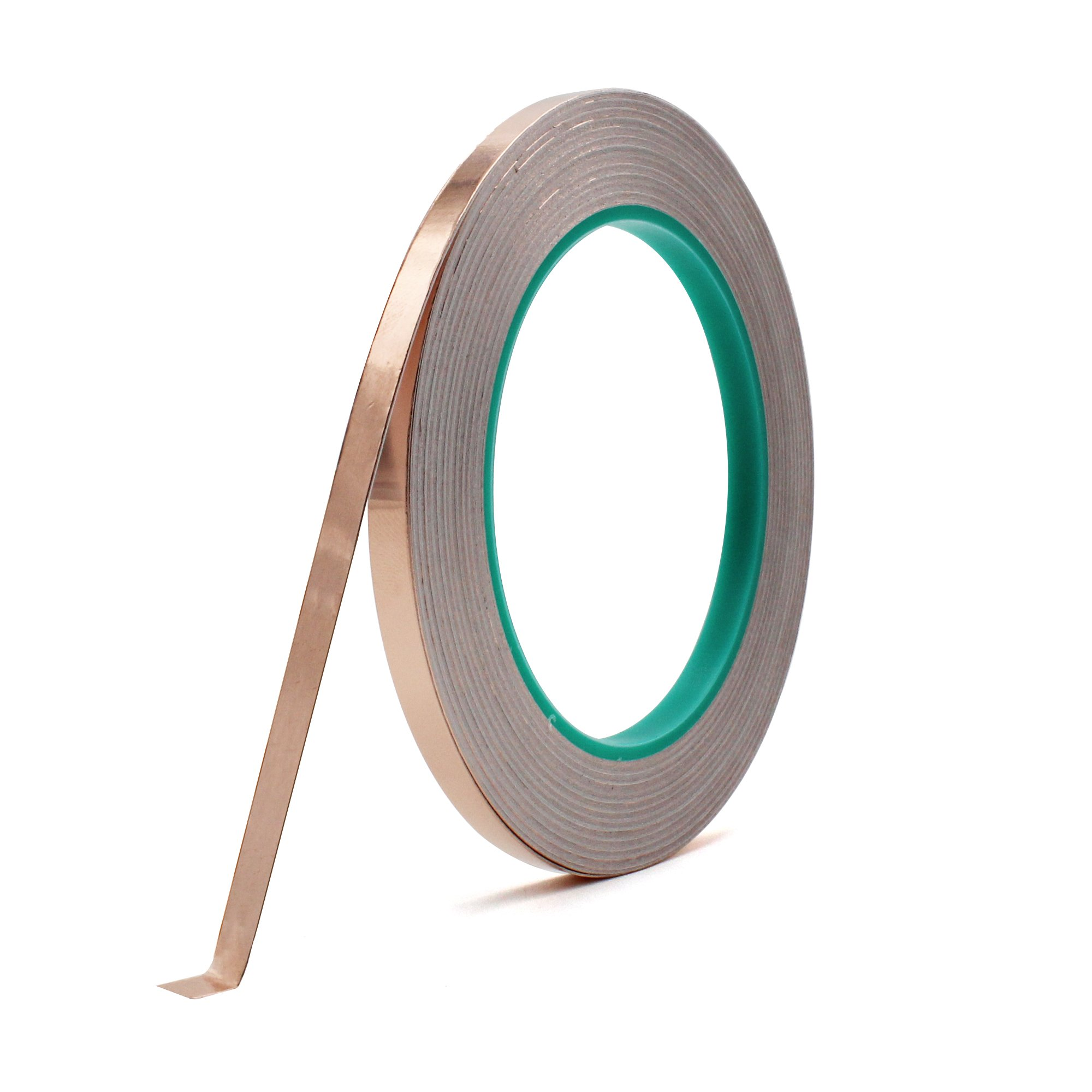Copper Foil Tape, Atemto 1/4inch X 27yds Foiling Tape with Double Sided Conductive Adhesive for Shielding Slug Repellent Circuits Crafting EMI Soldering Stained Glass Electrical Repair Grounding