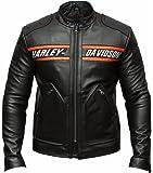 Bill Goldberg Motorcycle Black Motorcycle Real Cow Leather Jacket - Moto Leather Jacket