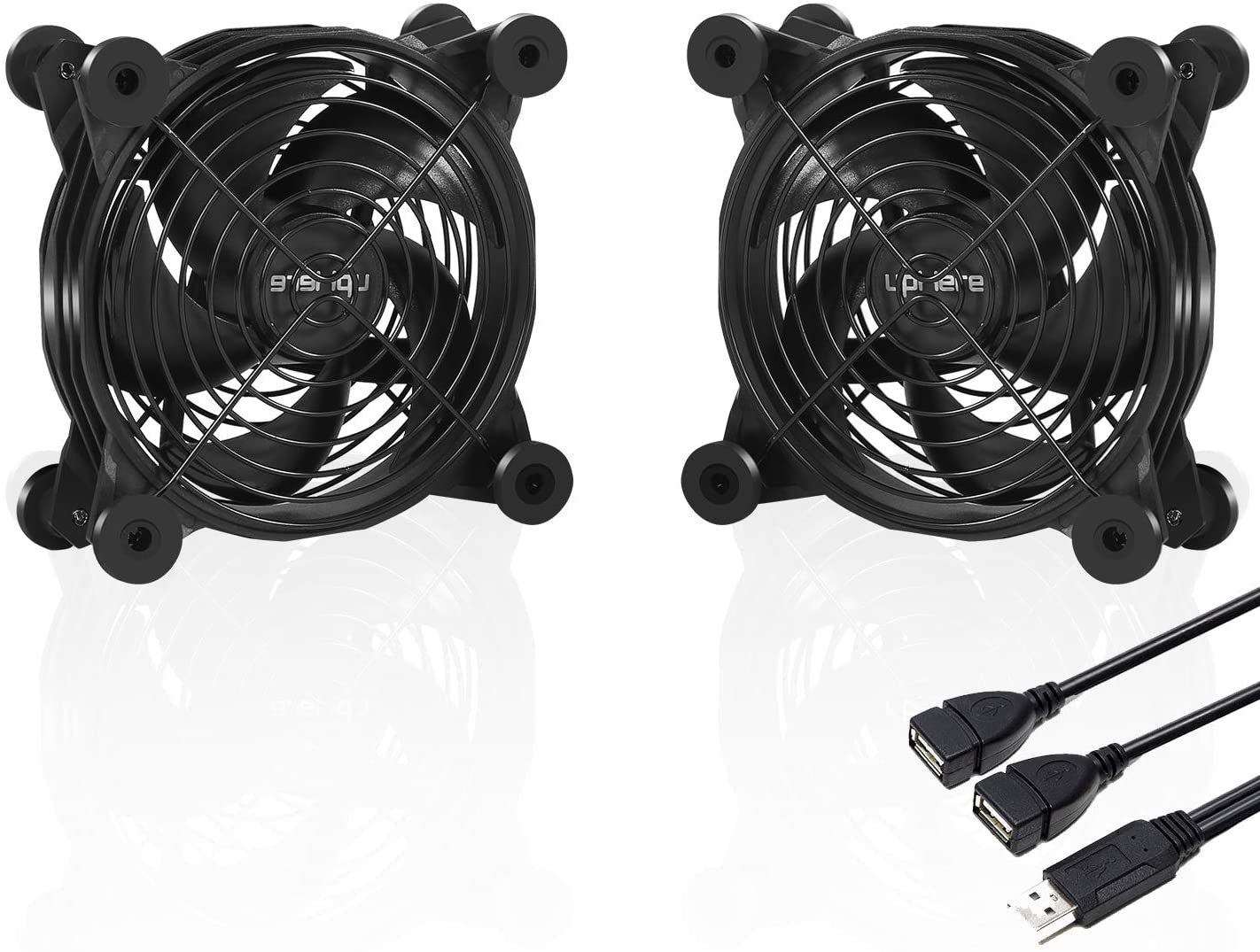 upHere U120 Silent Dual 120mm USB Fan for Computer Cases Computer Cabinet Playstation Xbox Cooling