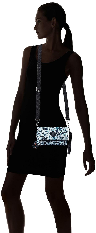 Kipling dam Lynne konvertibel crossbody-väska, använd tre sätt, dragkedja stängning Lynne konvertibel axelremsväska, bär 3 sätt, dragkedja Roaming Roses