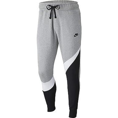 Nike Mens HBR Large Swoosh Jogger Sweatpants Grey Heather