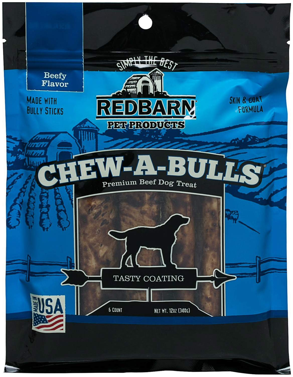 Redbarn Pet Products, Beef Chew-A-Bulls 6 pack