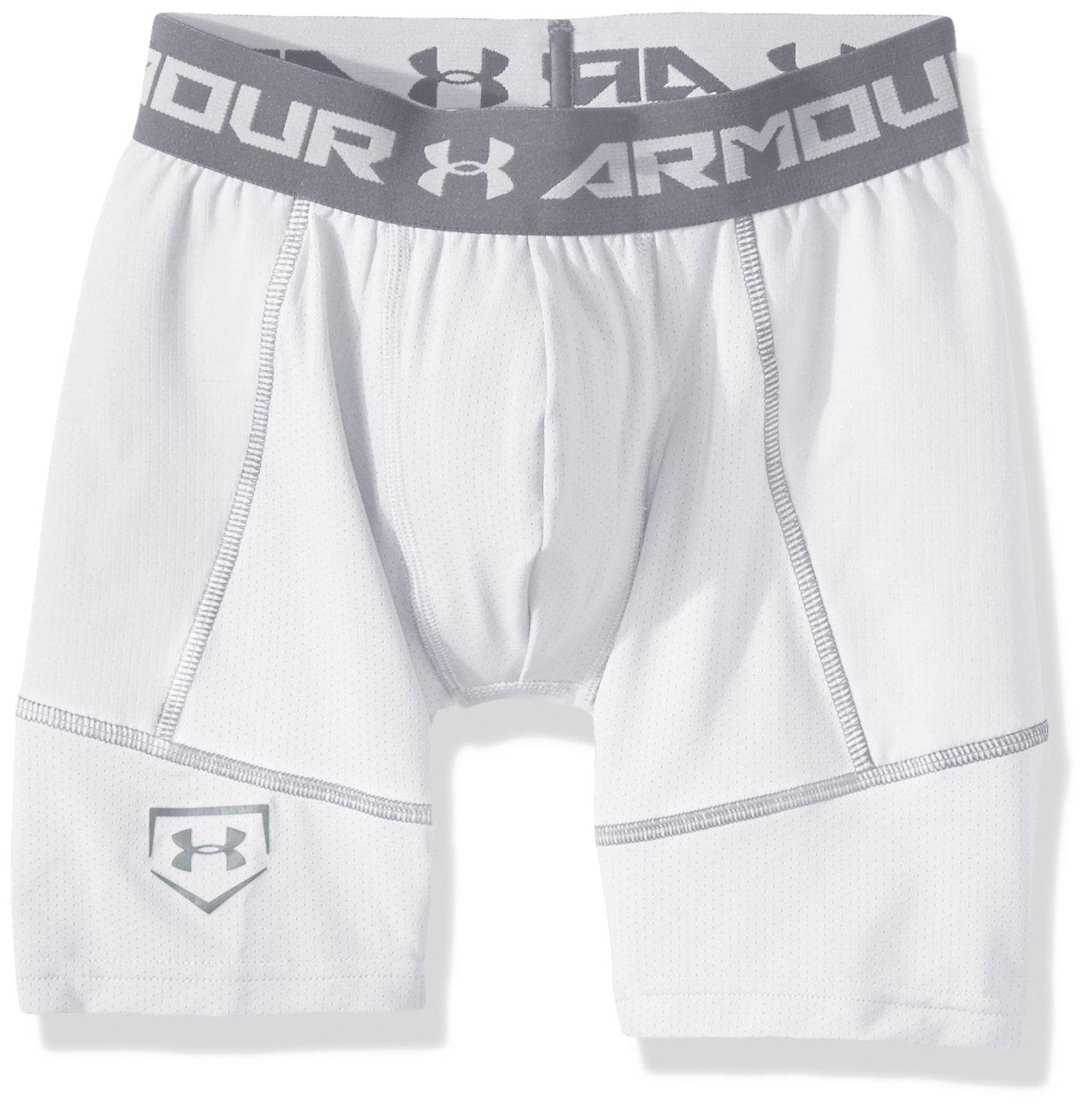 Under Armour Boys 'スライダソリッド B01M6Z90GG Youth Medium|White/Baseball Gray White/Baseball Gray Youth Medium