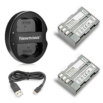 Newmowa EN-EL3 Batería de Repuesto (2-Pack) y Kit de ...