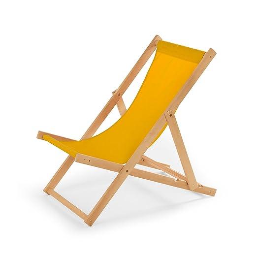 Gartenliege Aus Holz Pic | Amazon De Gartenliege Aus Holz Liegestuhl Relaxliege Strandstuhl Gelb