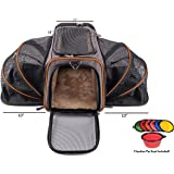 Premium Airline Approved Expandable Pet Carrier by Pet Peppy- Expandable Ends, Designed for Cats, Dogs, Kittens,Puppies - Extra Spacious Soft Sided Carrier!