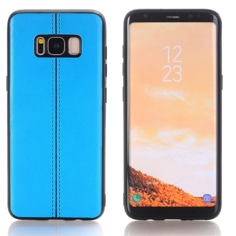 Boens Samsung S8 Case, Galaxy S8 Case Cover, Premium PU Leather Luxury Slim Retro Ultra Thin Shockproof Case