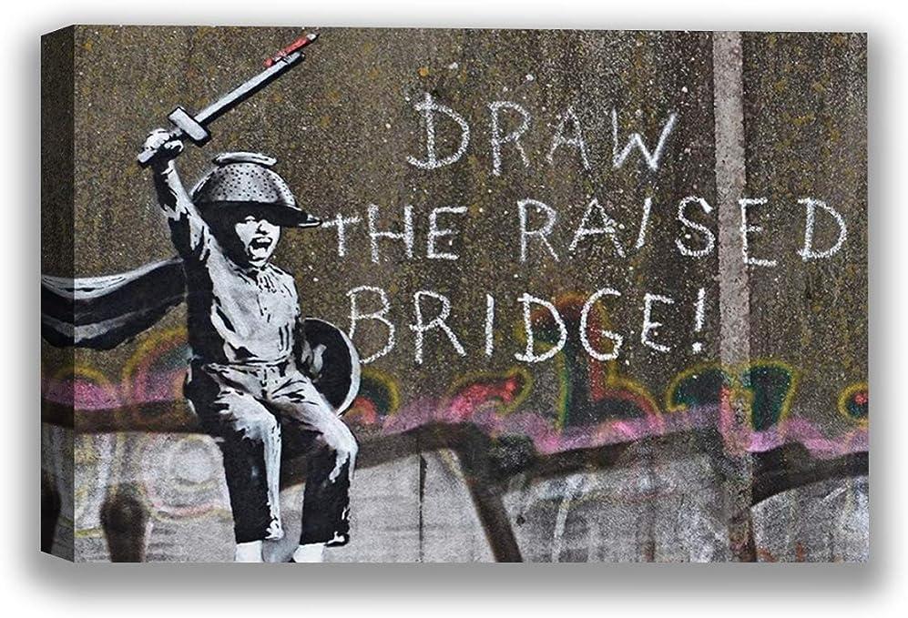 "Purple Banksy Graffiti Audrey Hepburn 24/""x36/"" Canvas Print"