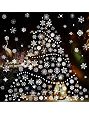 Christmas Snowflake Window Clings Decal Stickers Xmas Winter Wonderland Decorations Ornaments Holiday Party Supplies