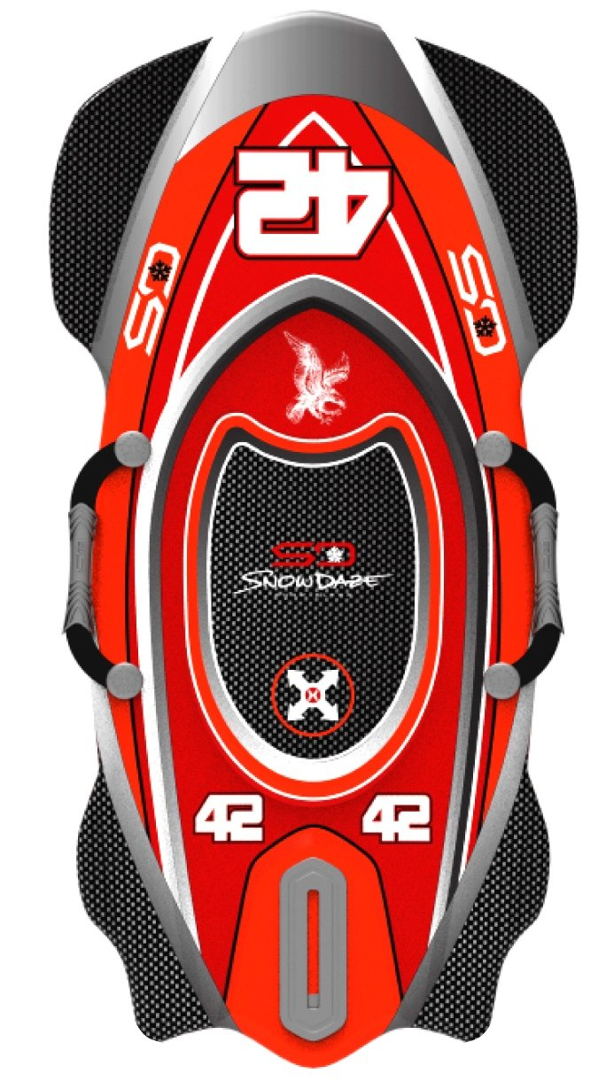 Snow Daze BS 42 Racing Sleds, Assorted Color by Snow Daze