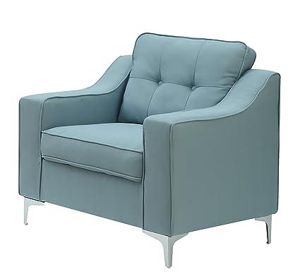 Beau Furniture World Corbu Armchair, Turquoise