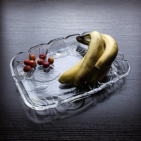 WEEKDEGY Bandeja de Frutas Compota de Vidrio sin Plomo Ideas de la Placa de Fruta Sala ...