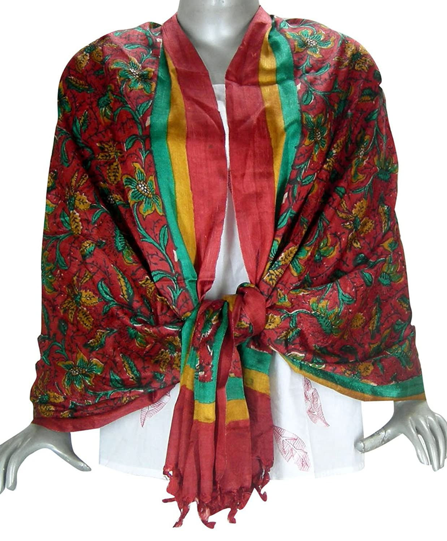 Indian Printed Silk Head Scarf Women Clothing