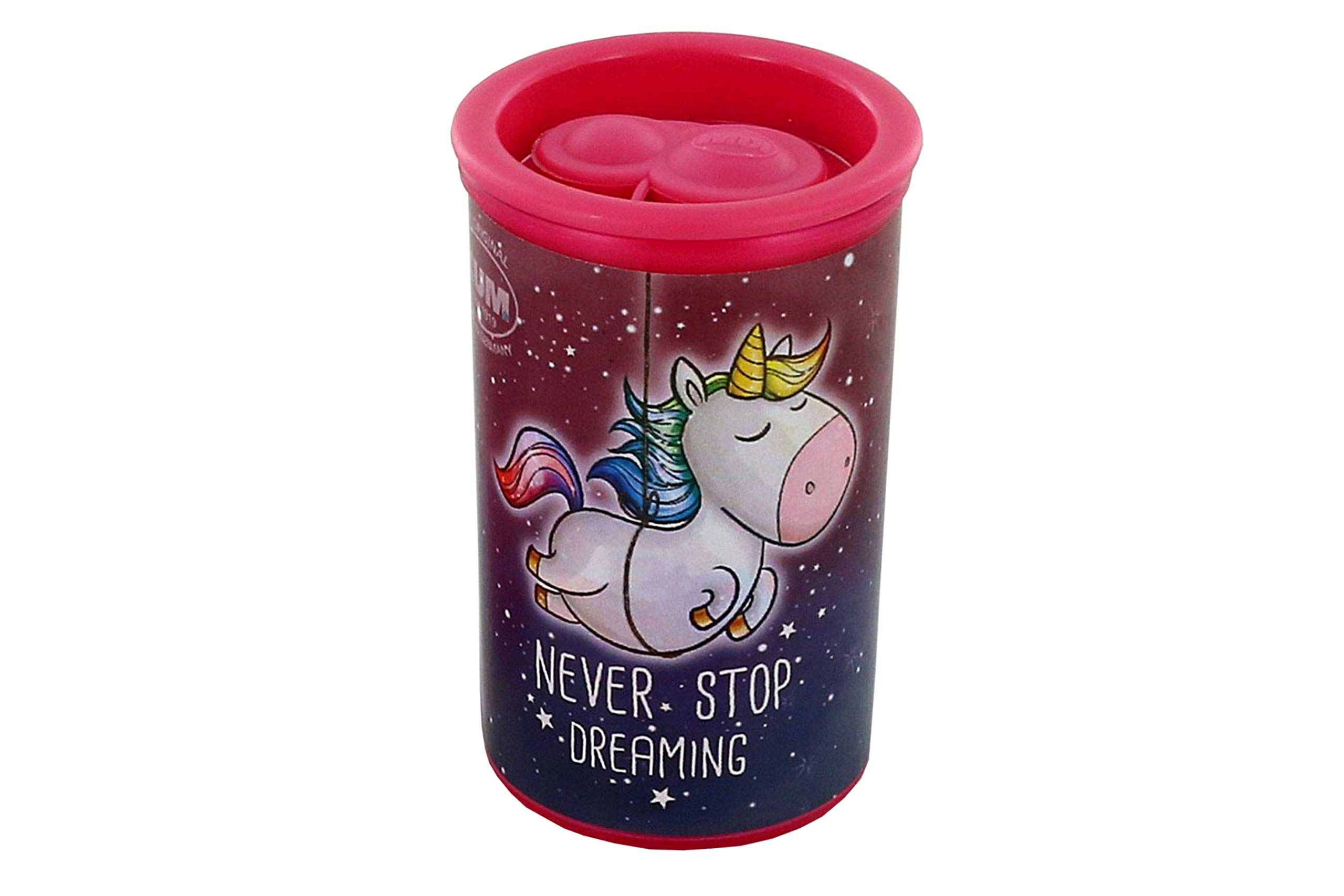 KUM AZ361.02.19 - Double Container Sharpener 1870KM2 Magnesium Unicorn Motif by Kum