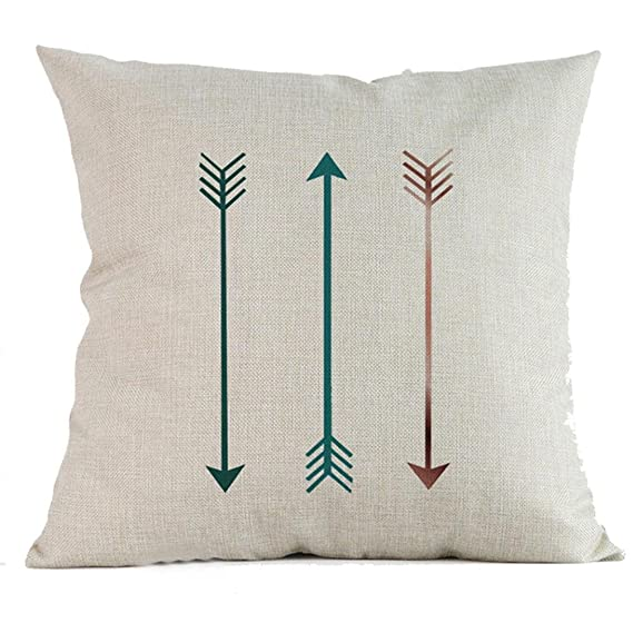 Hattfart Square Geometric Antlers Printed Cushion Cover Cotton Throw Pillow Case Sham Slipover Pillowslip Pillowcase for Home Sofa Couch Chair Back ...