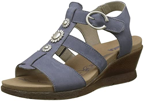 ROMIKA Nevis 12, Zuecos para Mujer, Azul (Jeans 540), 40 EU