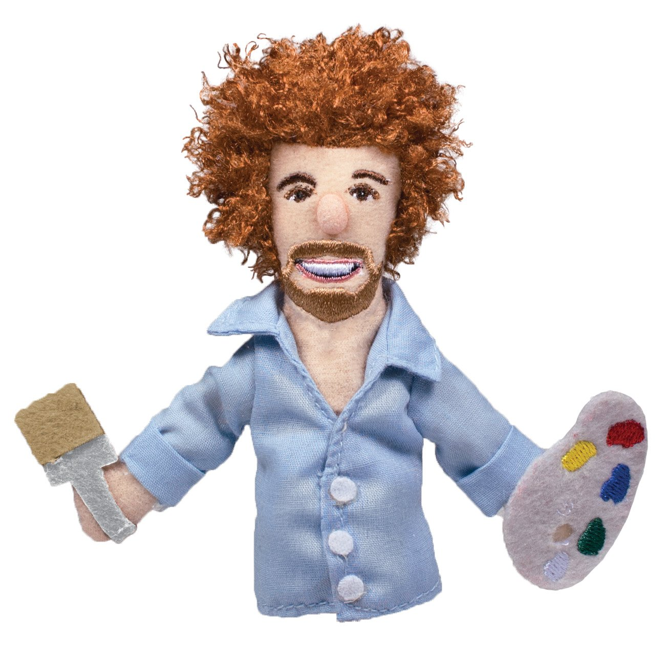 The Unemployed Philosophers Guild Bob Ross Finger Puppet and Refrigerator Magnet - for Kids and Adults