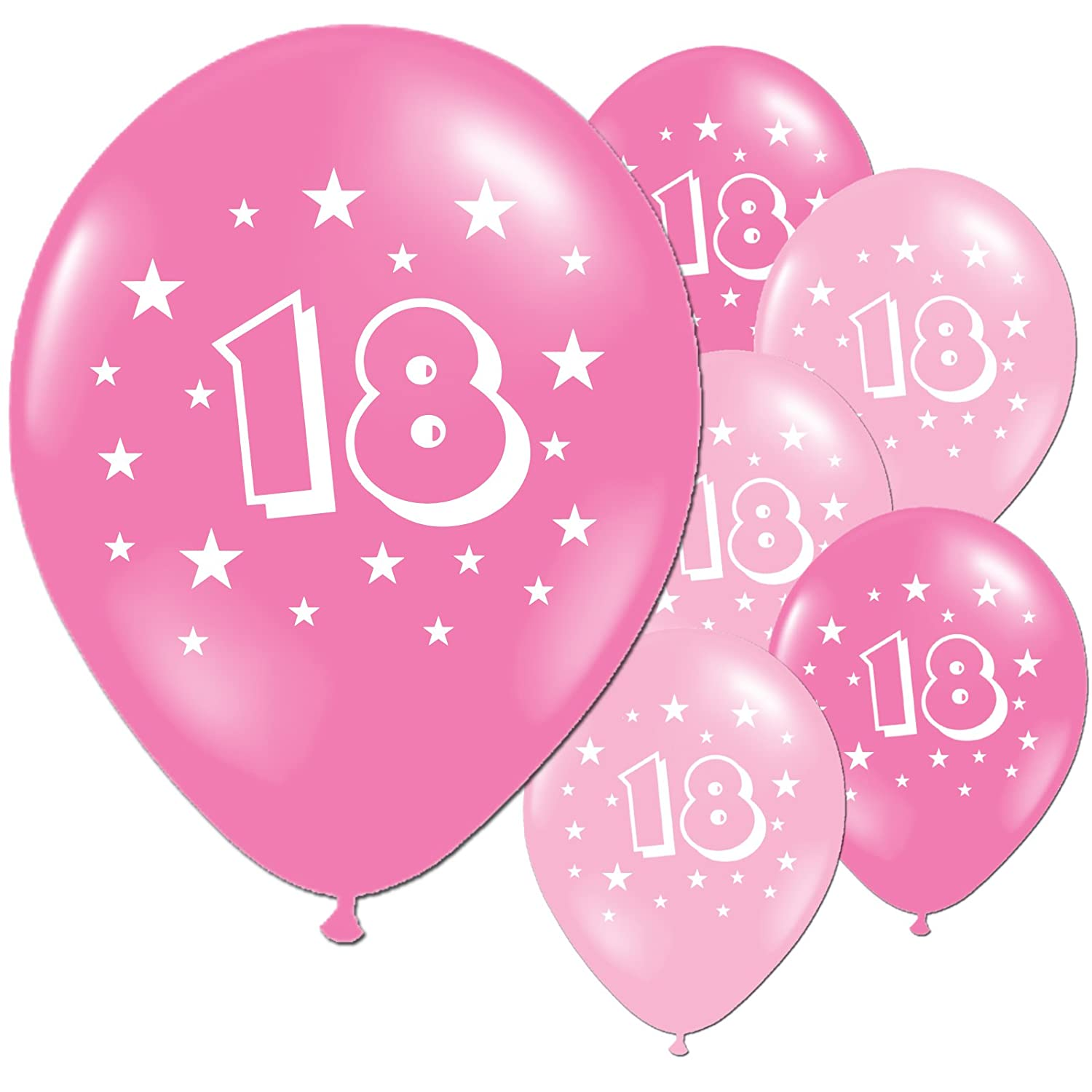 20 Fuschia And Pink 18th Birthday Party Balloons Amazoncouk Toys Games