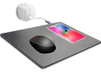 JE ratón para Videojuegos/Alfombrilla con Qi Cargador inalámbrico para Samsung Galaxy Note 5/S6/S7 Edge, Nexus 5/6/7, iphone7