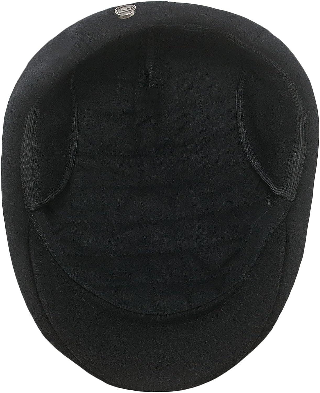 Sterkowski Norte Wooly Baker Boy Hat with Earflap Warm 100/% Wool Ivy League Mens Flat Cap