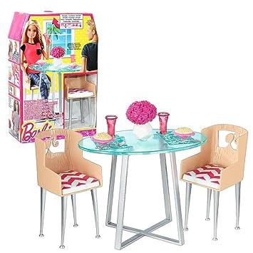 barbie mbel einrichtung esszimmer tisch sthle mit zubehr - Esszimmer Zubehor
