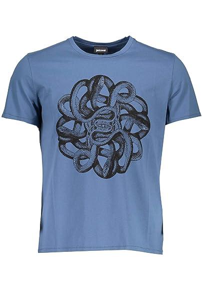 brand new 1957e 7c7f9 Just Cavalli S01GC0542 T-Shirt Maniche Corte Uomo: Amazon.it ...