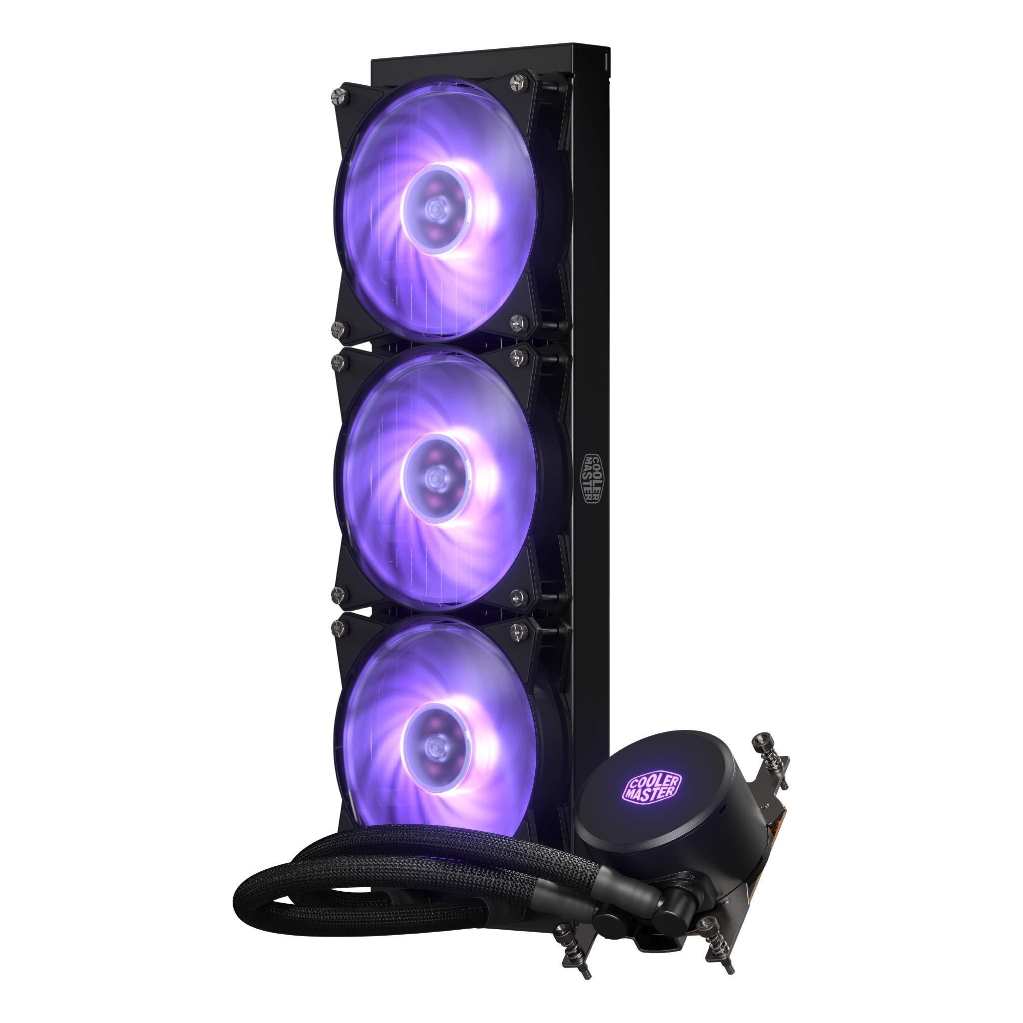Cooler Master MLX-D36M-A20PC-T1 MasterLiquid ML360 RGB AIO CPU Liquid Cooler Thread Ripper TR4 Triple 120mm RGB Air Balance MF