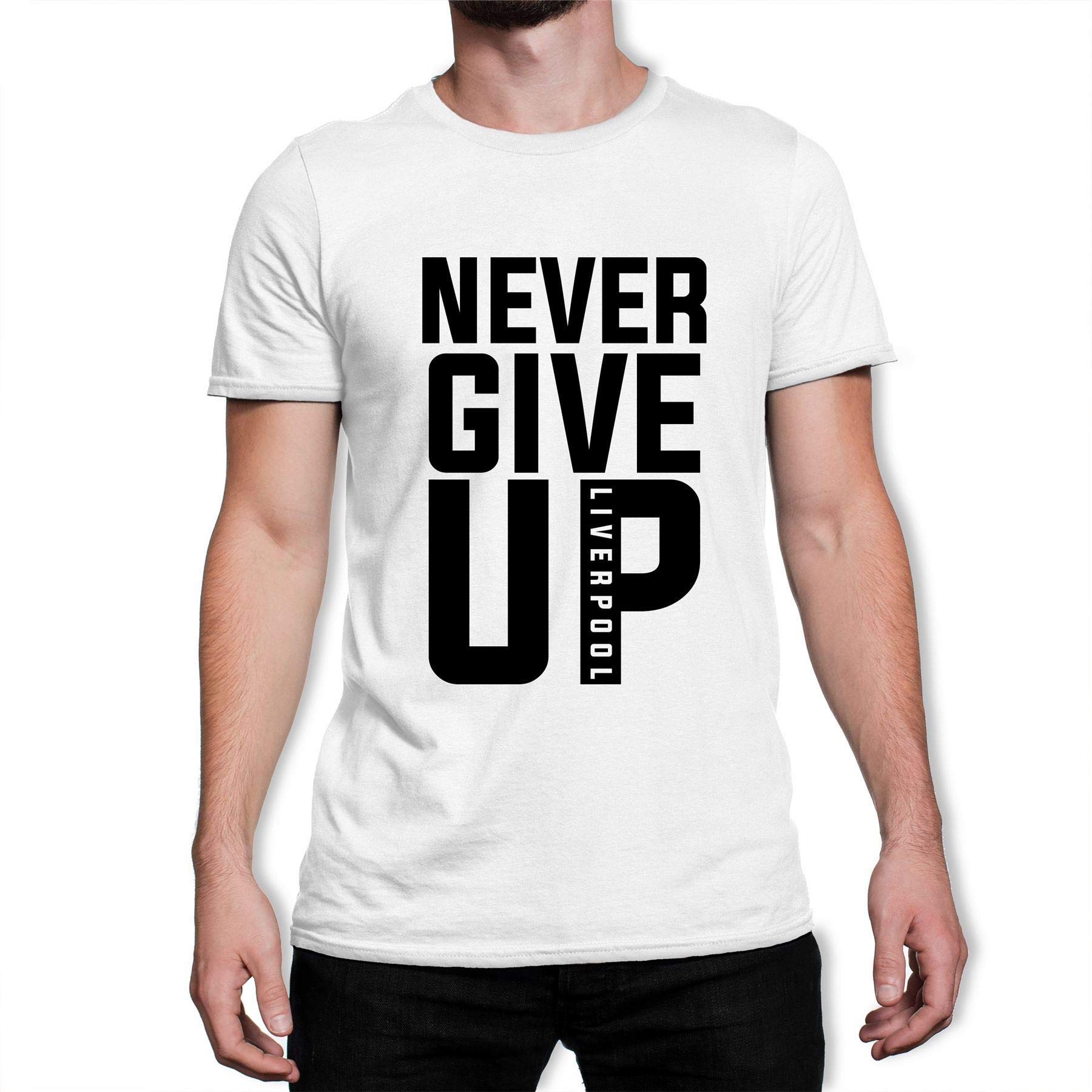 Never Give Up Liverpool Fc 2019 Champions League Black Text S Tshirt