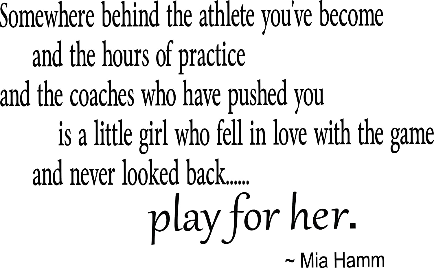 Best Selling Cling Transfer : Play for her Gymnastics Basketball Soccer Track Baseball Softball Volleyball Tennis Wall Decal Sticker Size : 20 Inches X 25 Inches - 22 Colors Available