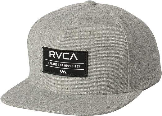 Amazon.com  RVCA Territory Snapback Hat Heather Grey Snap Back Cap ... b043b9261f4