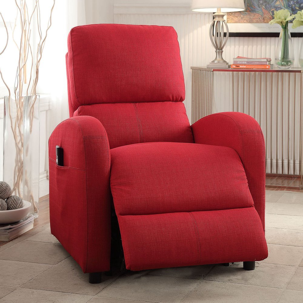 Amazon.com ACME Furniture 59345 Croria Recliner with Power Lift Red Fabric Kitchen u0026 Dining & Amazon.com: ACME Furniture 59345 Croria Recliner with Power Lift ... islam-shia.org