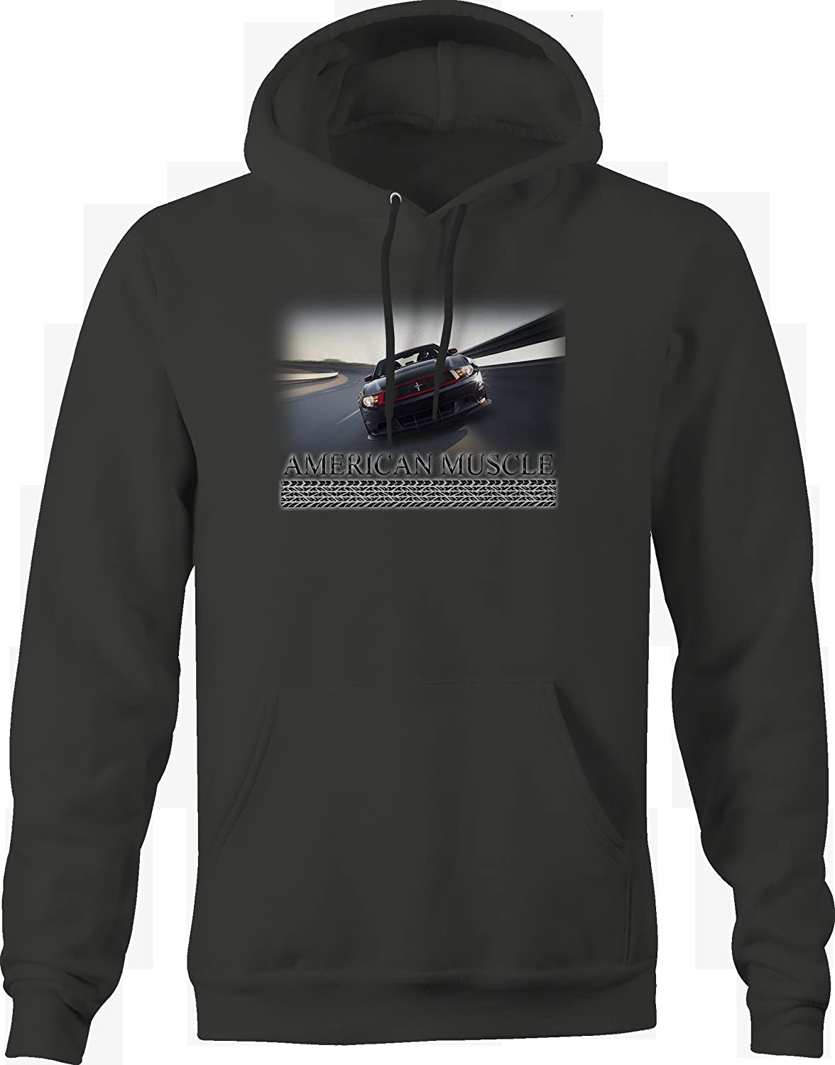 American Muscle Mustang Track Racing in The Banks Graphic Hoodie for Men