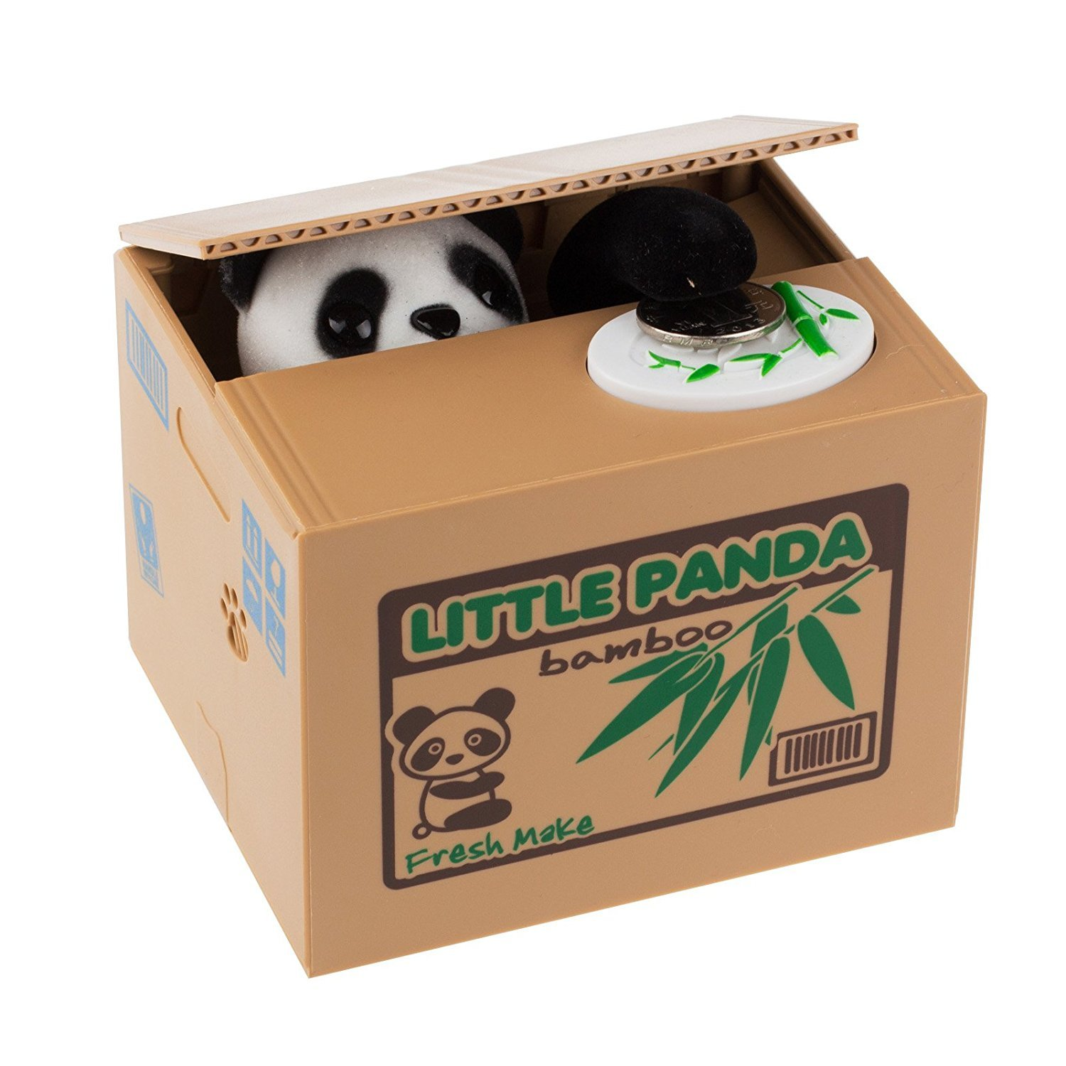 HmiL-U Piggy Bank Automatic Stealing Coins Cents Penny Christmas/Birthday Gift for Kids (Panda) by HmiL-U