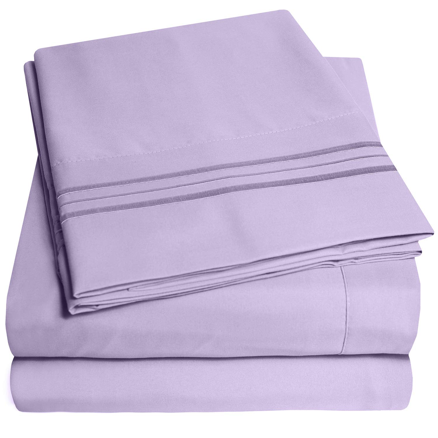 1500 Supreme Collection Bed Sheets Set - Luxury Hotel Style 4 Piece Extra Soft Sheet Set - Deep Pocket Wrinkle Free Hypoallergenic Bedding - Over 40+ Colors - Full, Lavender