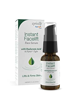 Instant Facelift Serum w/Hyaluronic Acid & Pepha Tight Formula to Lift, Firm & Tighten Skin - Hyaluronic Acid Serum for Face—Lessens Fines Lines & Wrinkles, 1 fl. oz. - Hyalogic Epsilk Brand