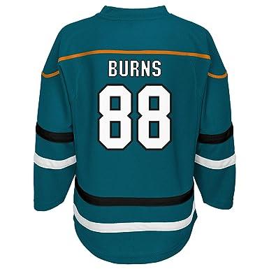 8323fca353d9 Brent Burns San Jose Sharks Teal Home 1 Stripe Team Apparel Team Jersey (X-