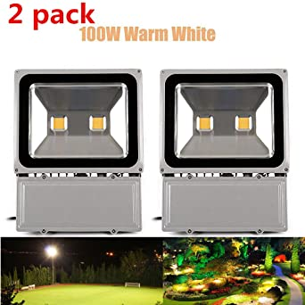 bright outdoor lighting. richday 2pcs led flood light 100w super bright outdoor lighting waterproof 85265v security lights