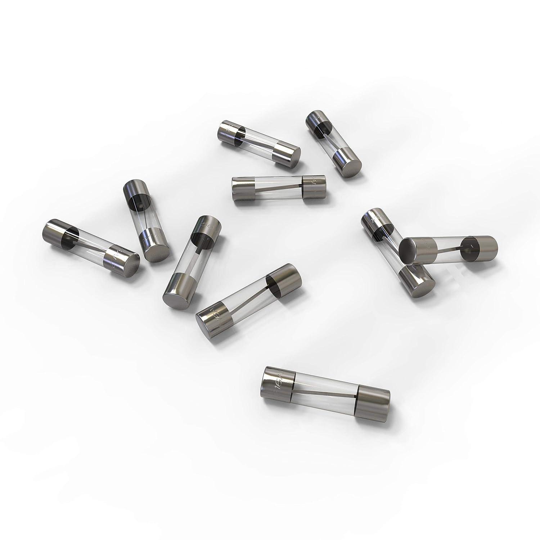 20A Schmelzsicherung Auswahl 10A Ampere AUPROTEC Glassicherung 5x20mm Feinsicherung 1A 10 St/ück