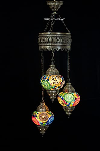 Mosaic Chandelier,Mosaic Lamp,Turkish Lamp,Moroccan Lantern