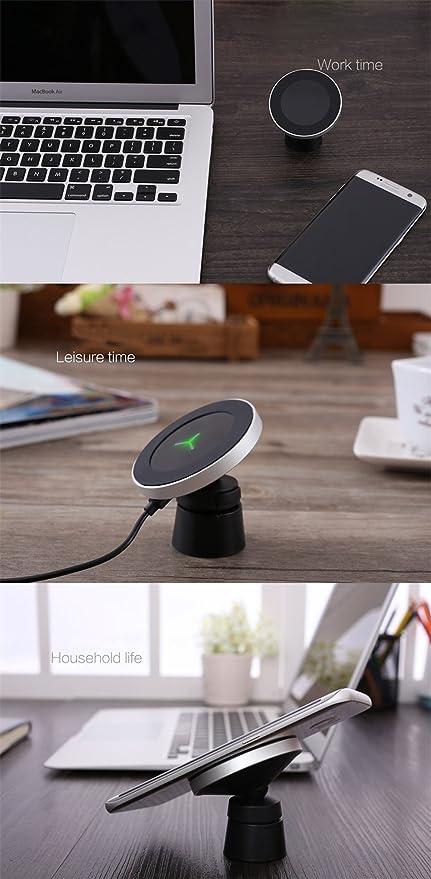 Amazon.com: Soporte magnético para Cargador de Coche, Qi ...