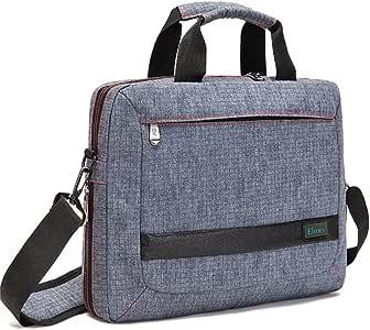 Laptop Bag 14 Inch Laptop Briefcase Multi-Compartment Nylon Shoulder Messenger Bag Tablet Bag for MacBook/Lenovo/Dell/HP/Asus/Acer(Gray)
