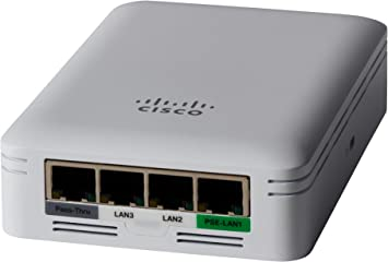 CBW145AC-B 2x2 Limited Lifetime Protection Cisco Business 145AC Wi-Fi Access Point Wall Plate 802.11ac 4 GbE Ports PoE