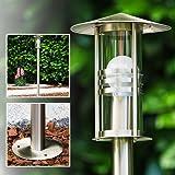 Lampioncino da esterno Design Moderno- Lampione da Giardino in Metallo con Paralumi in Vetro- Stile Elegante ideale illuminazione vialetto