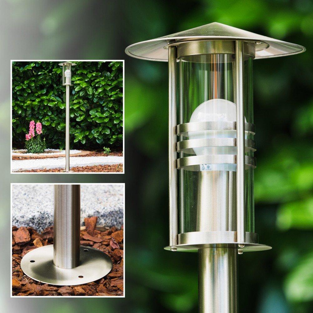 Lampione da giardino acciaio inox design moderno: amazon.it ...