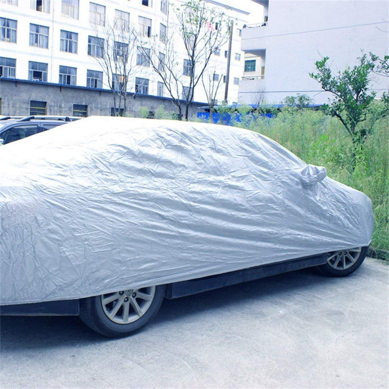 rain Wind Snow and ice car Cover Silver Protects Your car Against UV Rays