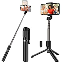 Yoozon Selfie Stick Tripod Bluetooth, Extendable Phone Tripod Selfie Stick with Wireless Remote Shutter for iPhone Xs…